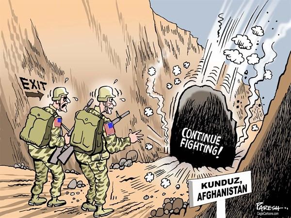 """Карикатуры, высмеивающие неспособность """"кабинета Обамы"""" принять решение по Афганистану"""