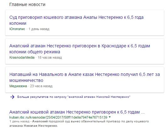 """Атаман, """"покусившийся"""" на Навального получил 6,5 лет колонии"""