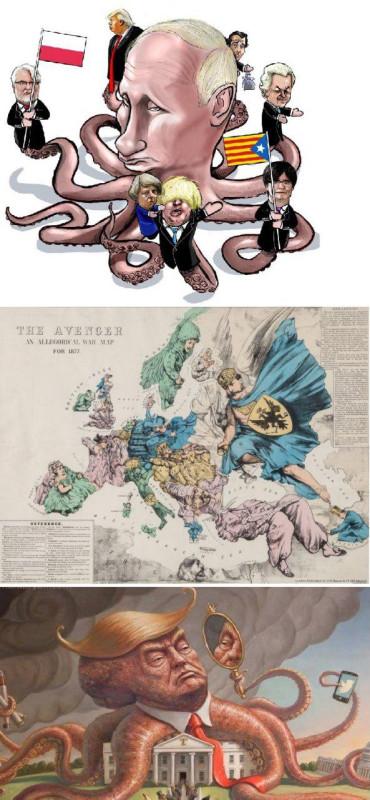 Путин - спрут, Трамп - спрут, Россия - ангел Мститель