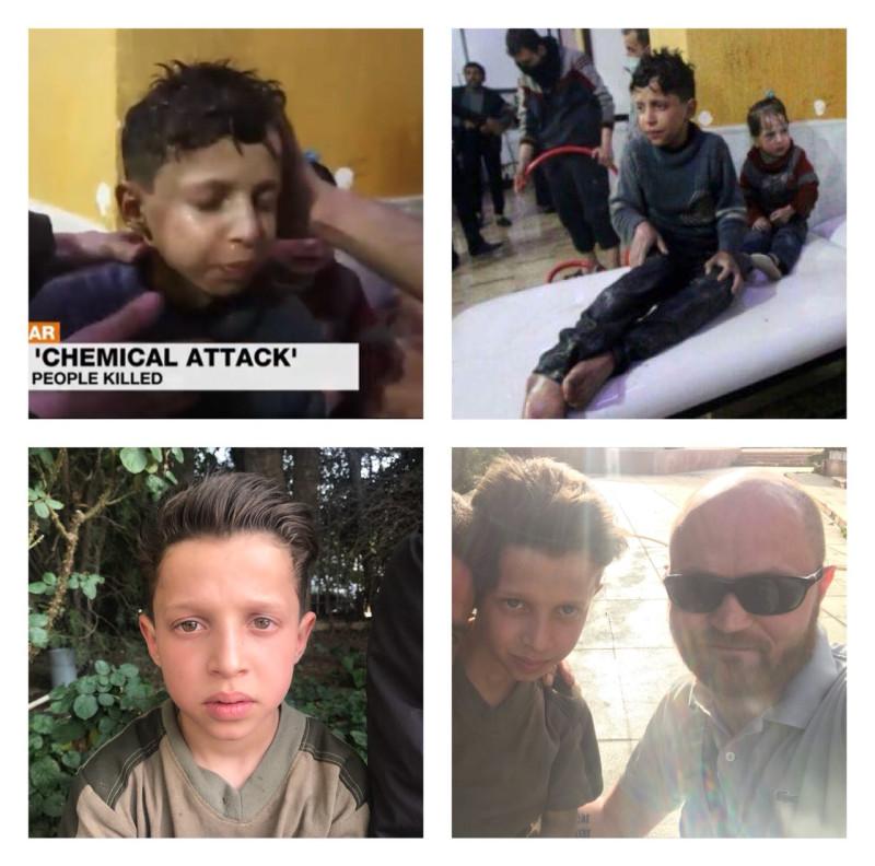 Нашли мальчика, которого 7 апреля заставили участвовать в инсценировке в больнице Думы.