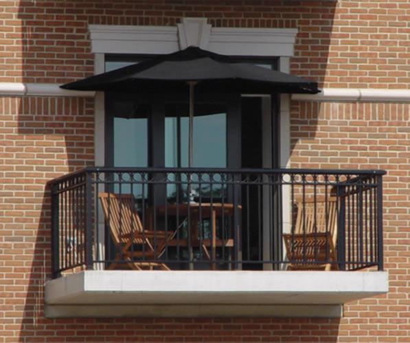 Terrace Mates - OFF THE WALL BRELLA - Half Umbrella - Black - Balcony - 02