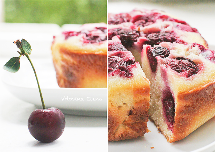 Semolina cake with cherries_1