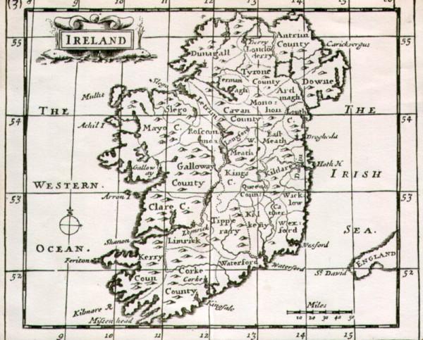 Карта Древней Ирландии.