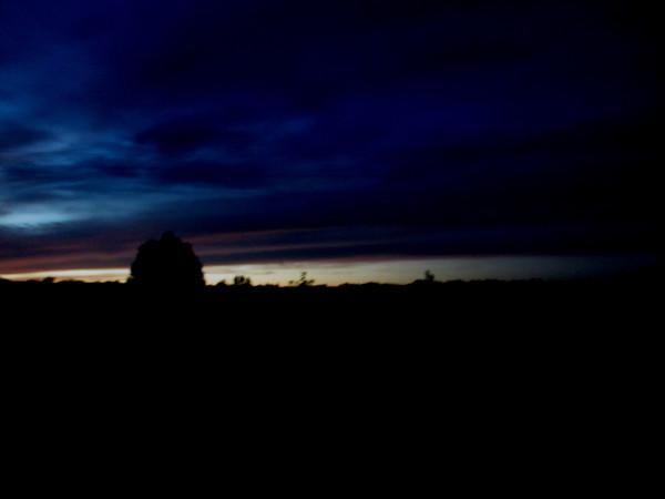 Ночь в деревне.