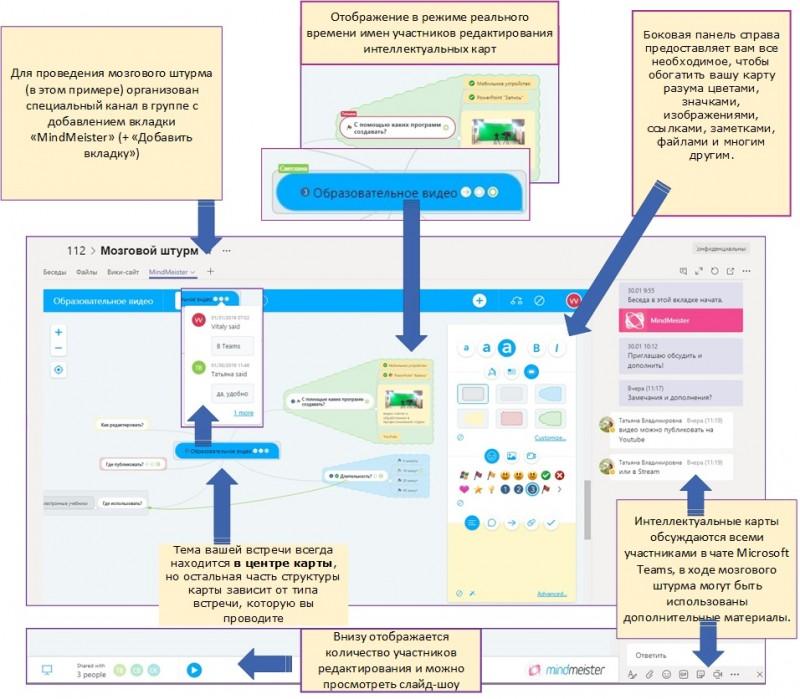 Приложение MindMeister в Microsoft Teams