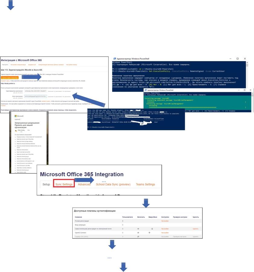 Настройка соединения между плагином Office 365 Moodle и Azure AD