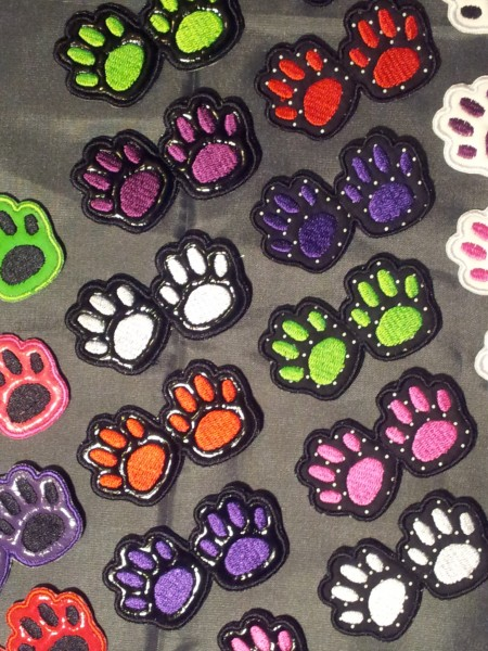Kitty Paws hairclips