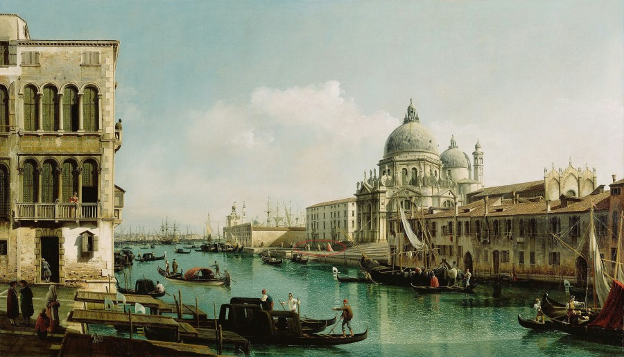Беллотто Бернардо (1720 - 1780 ) - Большой канал и догана в Венеции р.jpg