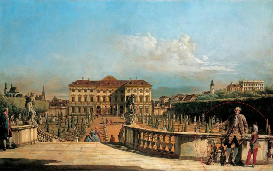 Бернардо Беллотто - Вид на сад дворца Лихтенштейн с Бельведера. 1760 р.jpg