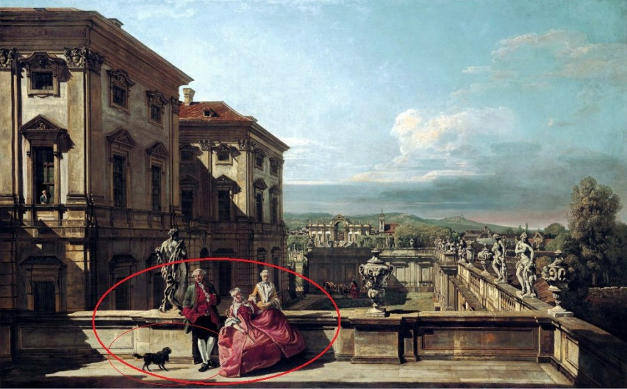 Бернардо Беллотто вид с востока на сад дворца Лихтенштейн 1760 р.jpg