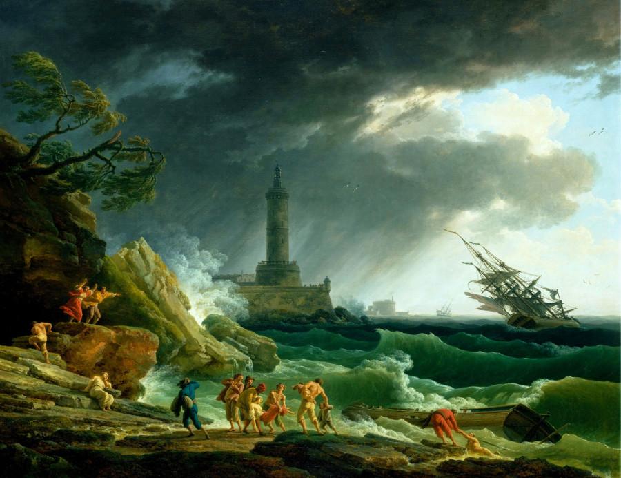 Верне Клод-Жозеф (1714 - 1789) - Шторм у средиземноморского берега.jpg