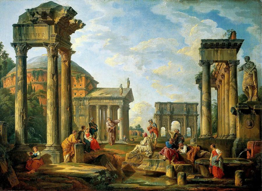 Джованни Паоло Паннини - Римские руины. 1751.jpg