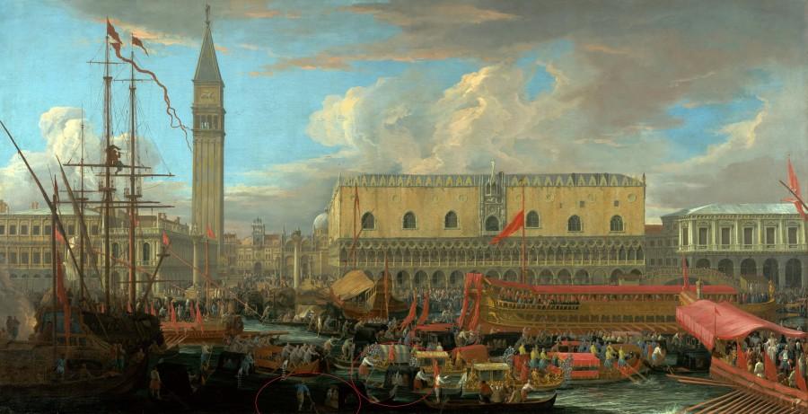 Карлеварис Лука (1663 - 1730 ) - Отплытие Буцентавра из бассейна Сан Марко р.jpg
