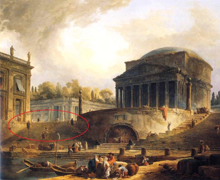 Робер Юбер Вид на порт Рипетта в Риме р.jpg