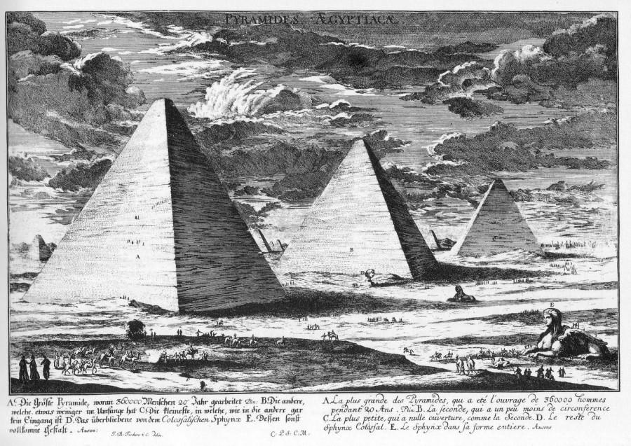 Pyramides Aegyptiacae (1721, by Fischer von Eriach).jpg
