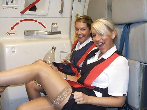 Фото в чулках стюардессы