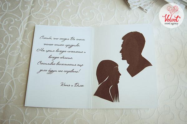 Подпись на открытке на свадьбу