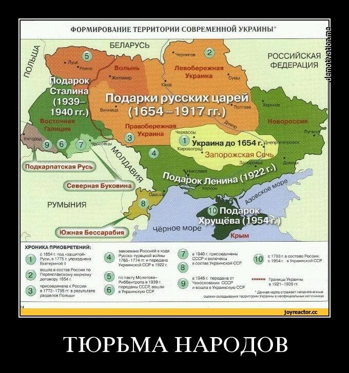 Карта подарков русских царей Украине
