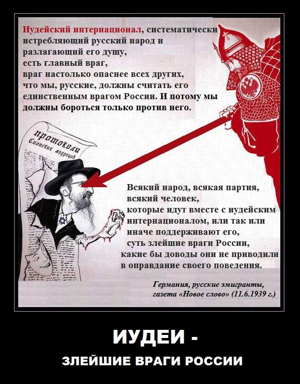 Иудеи - злейшие враги России