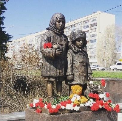 Памятник Детям войны Ульяновск 2015