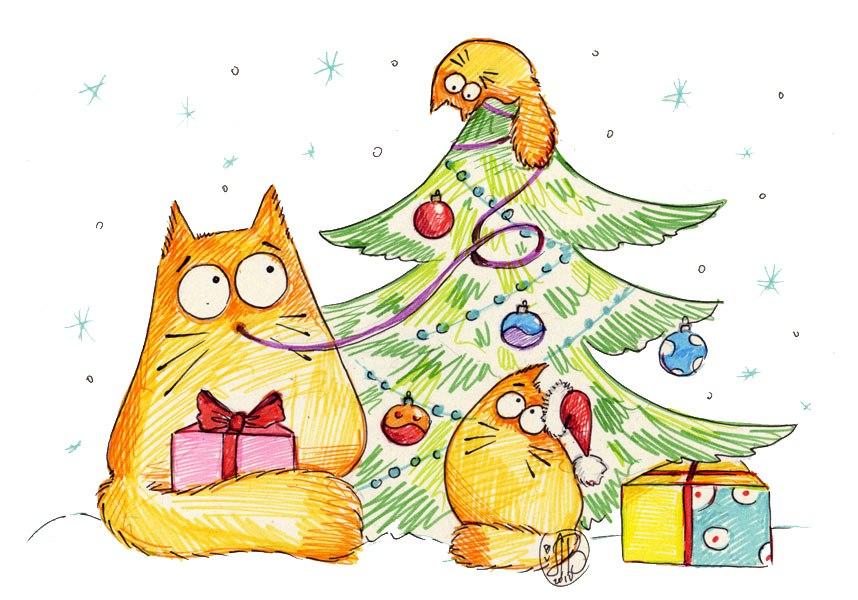 Повышение, смешные рисунки на новый год карандашом