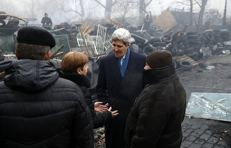 John Kerry in Kiev, March 4, 2014