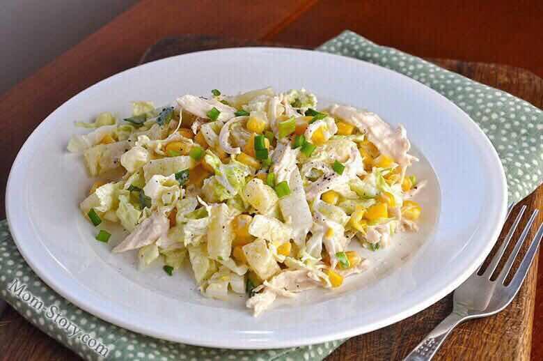 рецепты салатов с пекинской капусты с фото