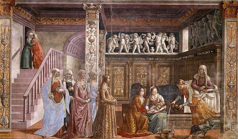Гирландайо Рождество девы Марии
