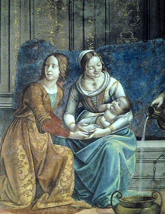 Гирландайо. Рождество девы Марии (фрагмент).