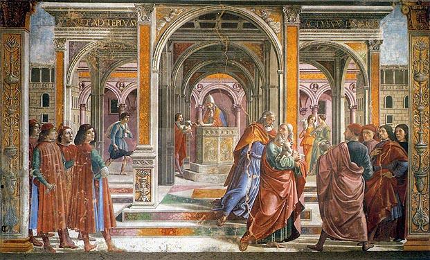 Гирландайо Изгнание из храма