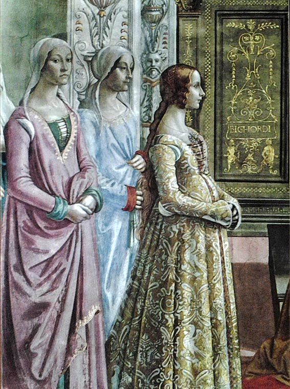 Гирландайо. Рожедство девы Марии