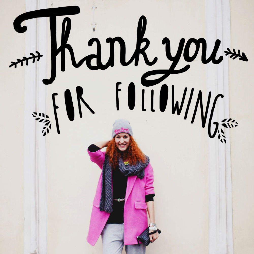 thank you for following 2