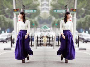 TTR City Girls Fairylights Maxi Skirt in Indigo Size S