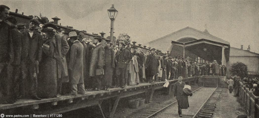 Похороны Чехова Николаевский вокзал 3