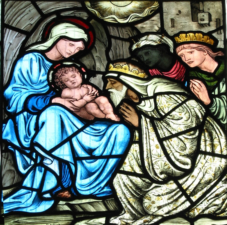 Эдвард Бёрн-Джонс (Edward Burne-Jones) - Рождество Христово (витраж) (4)