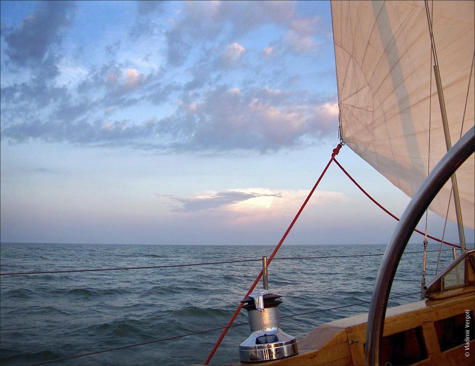 Море с яхты