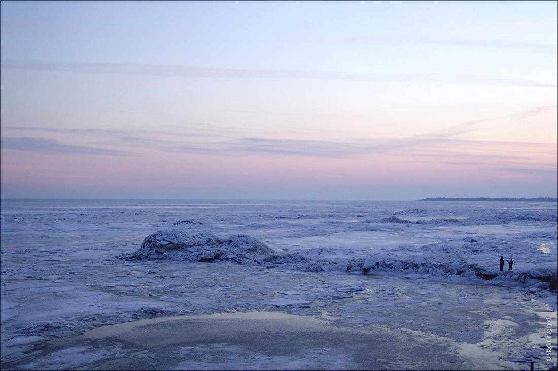 Закат над морем 3