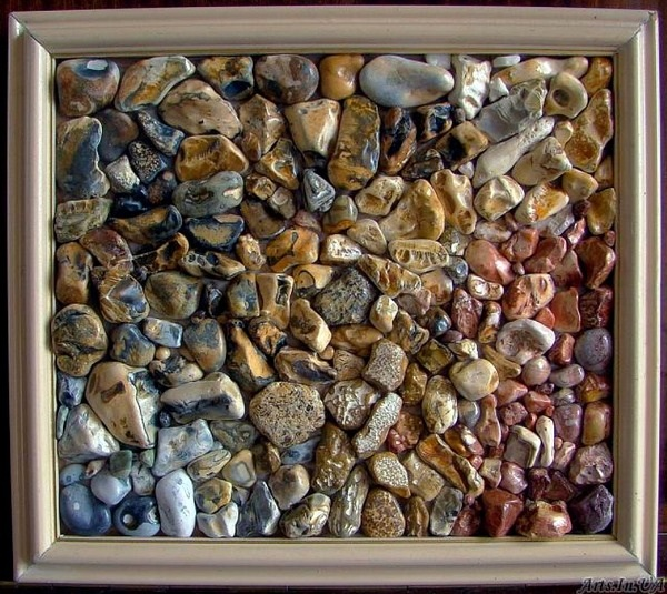 Поделки морские камушки