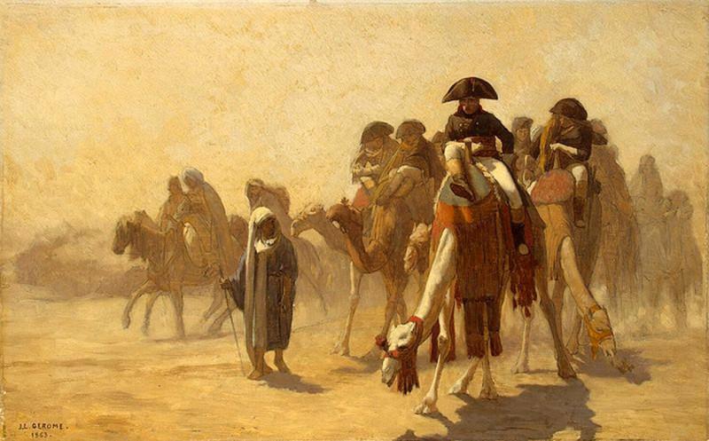 Жан-Леон Жером. Египетская кампания Наполеона Барон. 1863.jpg
