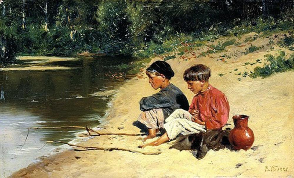 "Владимир Маковский ""Рыбачки"". 1866 год"