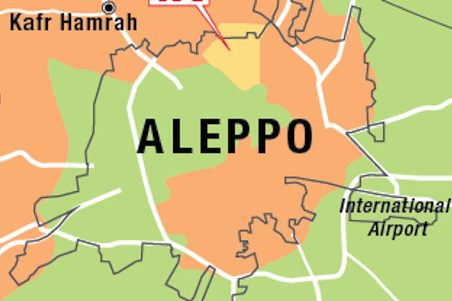 Две карты Алеппо —посмотрим на продвижение за год