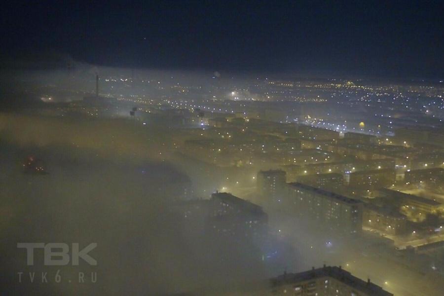 Вяликий путин оказался ещё и повелителем смога над Красноярском