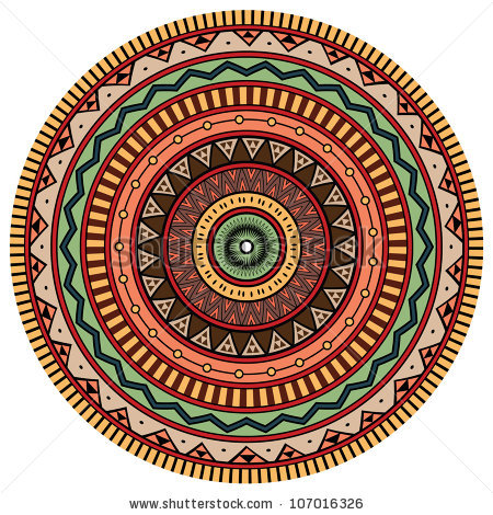 stock-vector-ornamental-round-lace-aztec-style-ornament-107016326