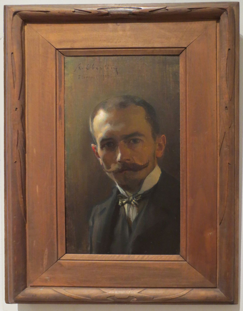 Alfred Eberling (1872-1951), Self-portrait, 1903, State Russian Museum, St Petersburg