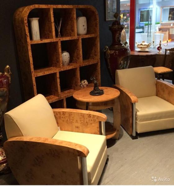 Комплект мебели в стиле Ар - Деко, из капа тополя