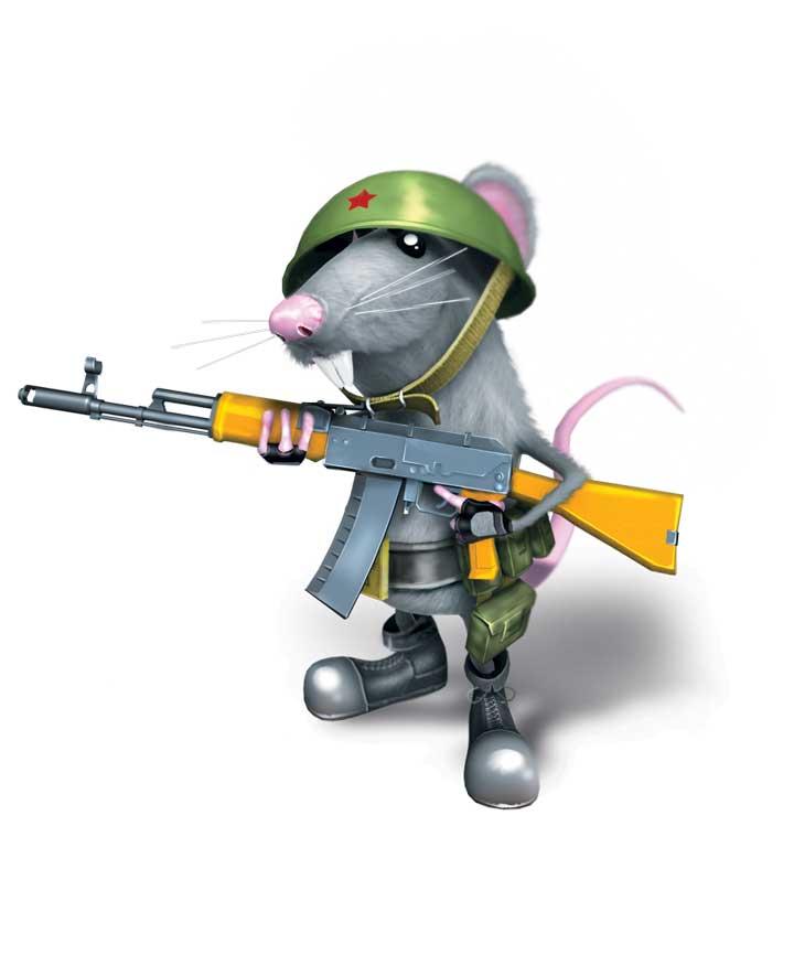 Крыса с автоматом