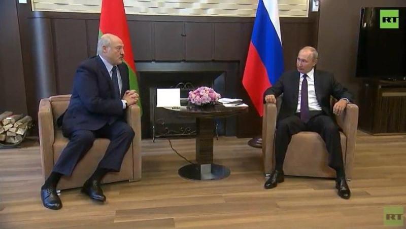 Лукашенко и Путин RT