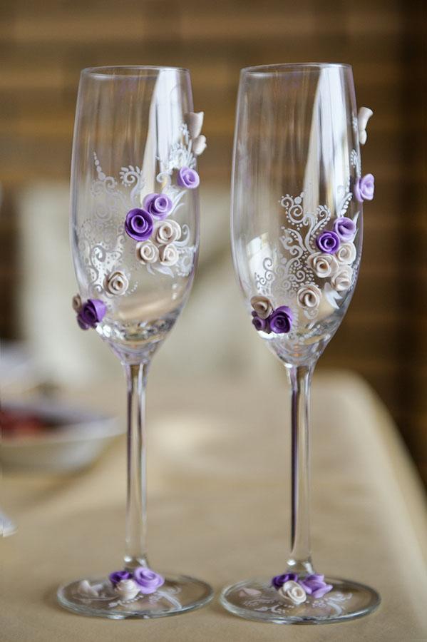 Бокалы и шампанское - Свадебный подарок для Саяны и Баира