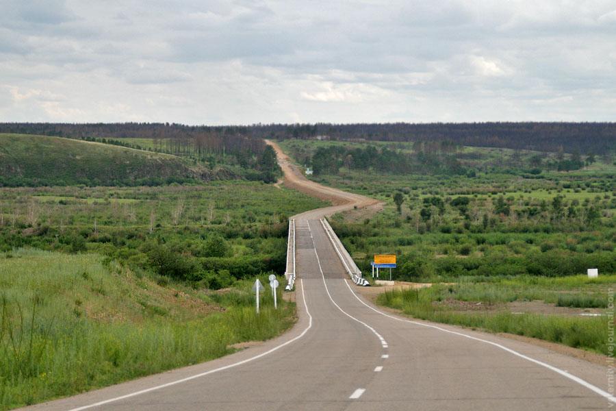 Дорога к мосту через Онон