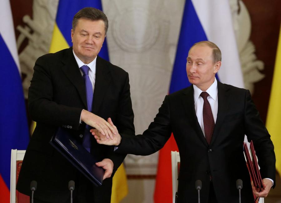 Янукович и Путин декабрь 2013